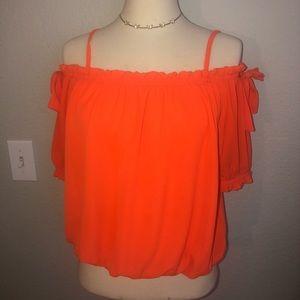 Neon orange blouse
